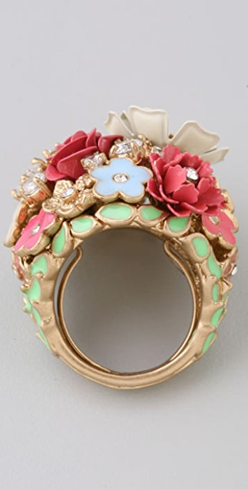 Juicy Couture Flower Punk Cluster Ring