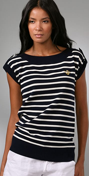 Juicy Couture Striped Flutter Sweater