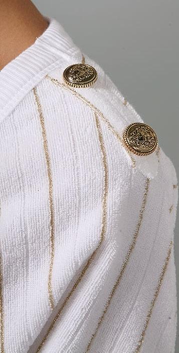 Juicy Couture Metallic Drop Shoulder Top