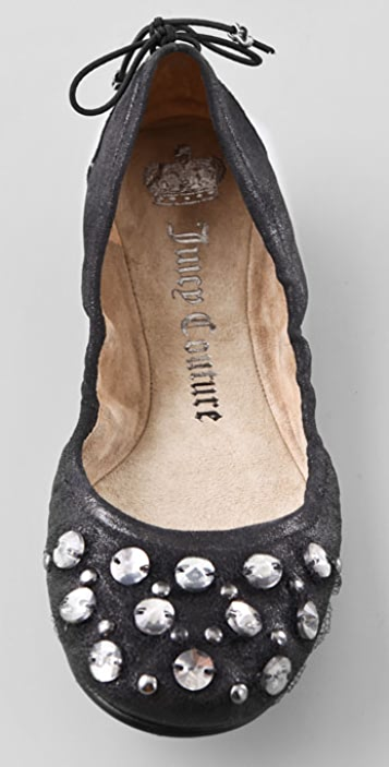 Juicy Couture Robyn Crystal Ballet Flats