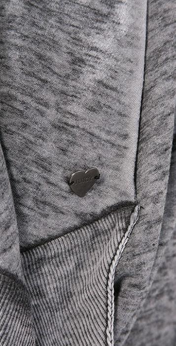 Juicy Couture Burnout Fleece Poncho Cardigan