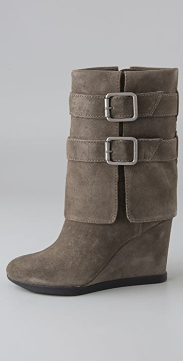 Juicy Couture Dale Suede Wedge Boots