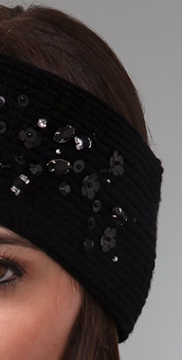 Juicy Couture Ribbed Headband with Gems