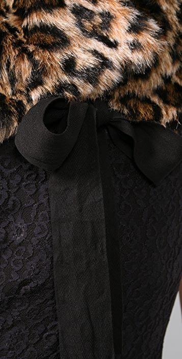Juicy Couture Leopard Faux Fur Stole