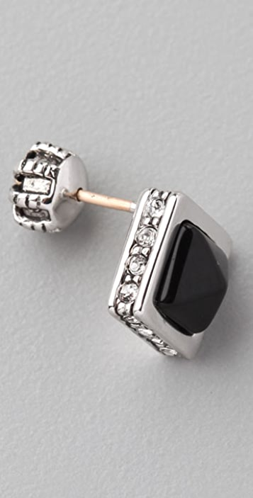 Juicy Couture Onyx Pyramid Stud Earrings
