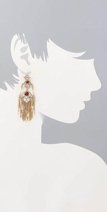 Juicy Couture Ornate Chandelier Earrings