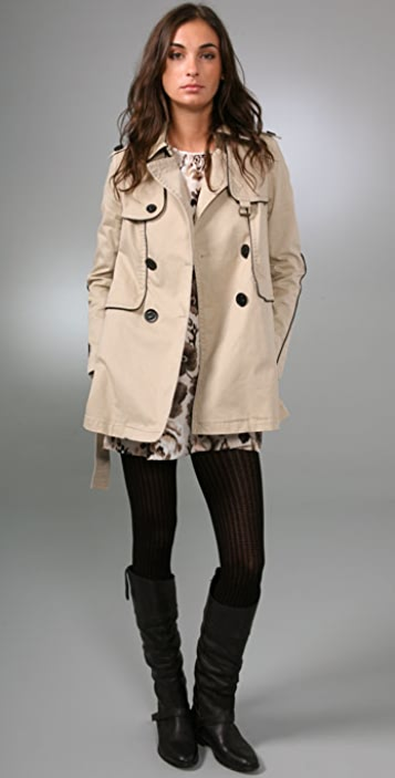 Juicy Couture Skylar Twill Trench Coat