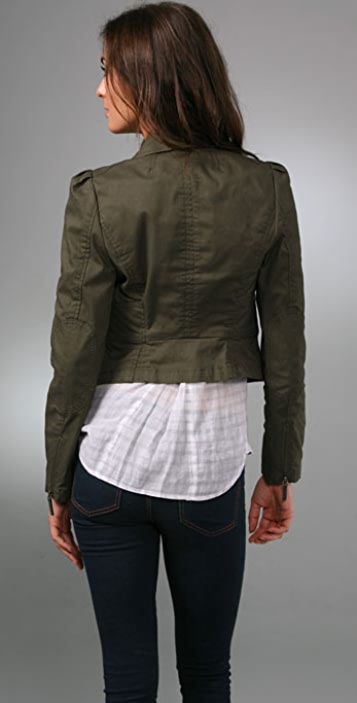 Juicy Couture Skylar Twill Military Jacket