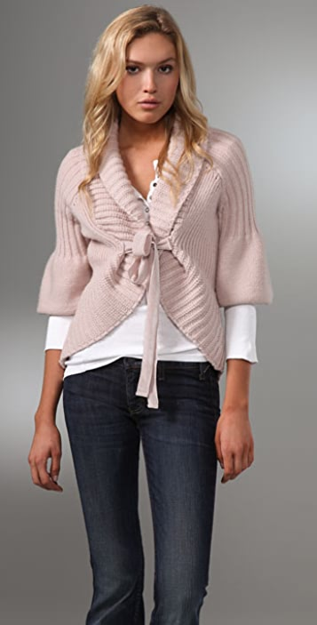 Juicy Couture Decreasing Rib Cardigan