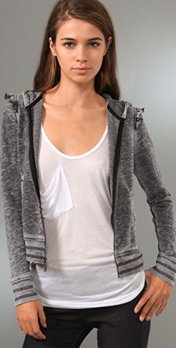Juicy Couture Hoodie with Ruffle Detail