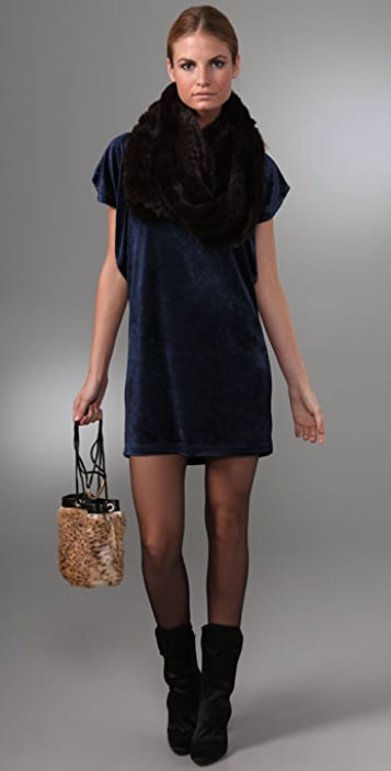 Juicy Couture Velour Flutter Sleeve Dress