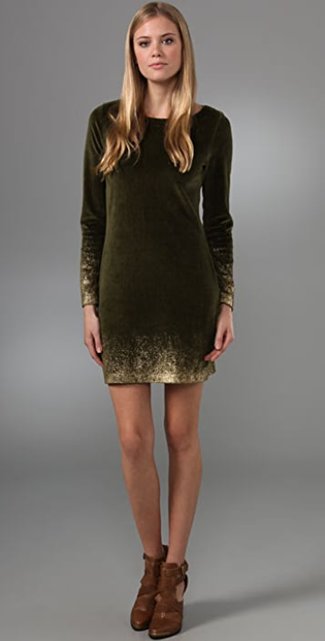 Juicy Couture Mini Dress with Ombre Foil Print