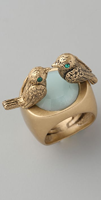 Juicy Couture Laurel Canyon Gypset Kissing Birds Ring