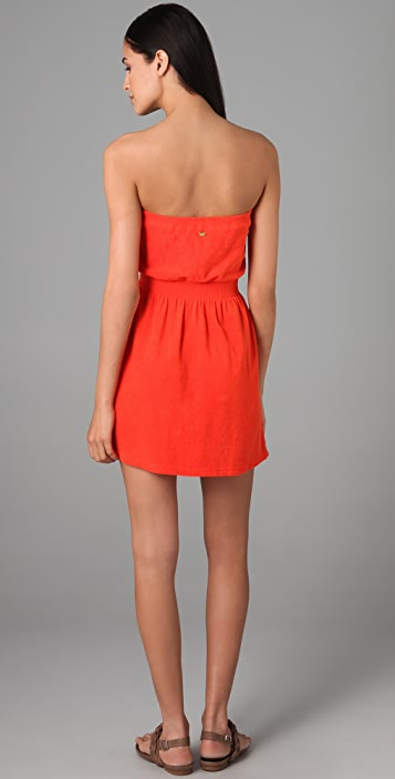 Juicy Couture Terry Strapless Dress with Gold Tassels