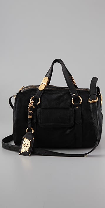 Juicy Couture This Is Not A Test Haircalf Duffle Bag  0b4773613877