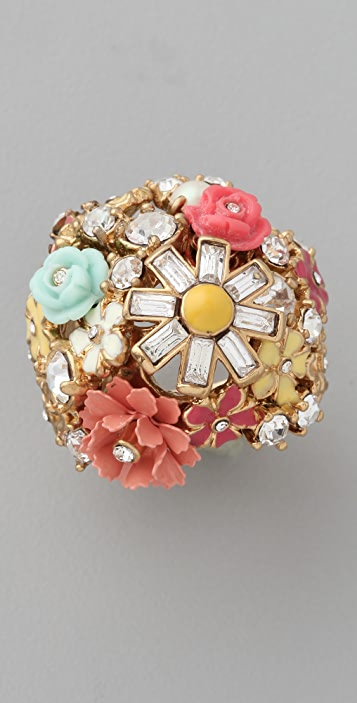 Juicy Couture Floral Cluster Ring