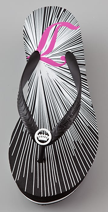 Juicy Couture Cara Wedge Flip Flops