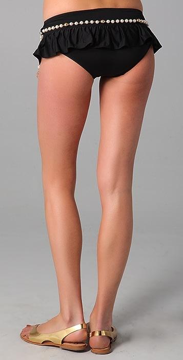 Juicy Couture Majestic Pearl Skirted Bikini Bottoms
