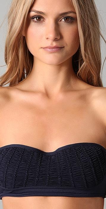 Juicy Couture Starlet Smocked Bandeau Bikini Top
