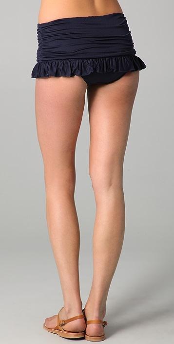 Juicy Couture Starlet Smocked Skirted Bikini Bottoms