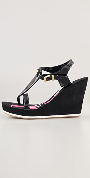 Juicy Couture Baline Rubber Wedge Sandals