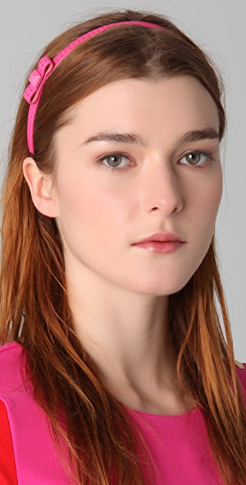 Juicy Couture Perforated Leather Headband