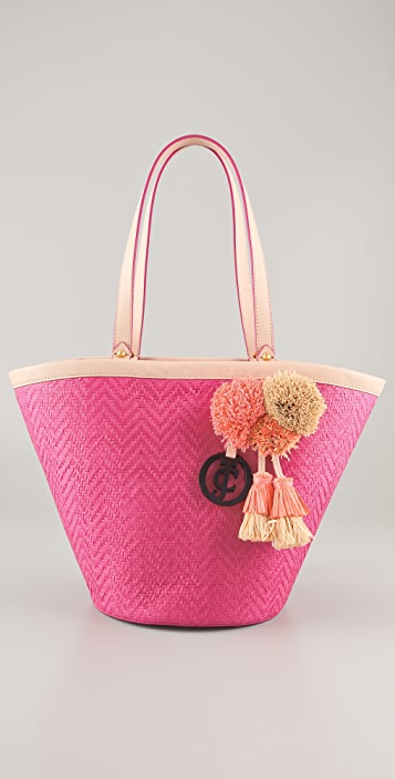 Juicy Couture Lynn North Shore Straw Bag