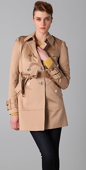 Juicy Couture Solid Sateen Trench Coat