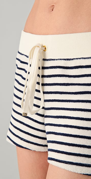 Juicy Couture Sunshine Stripe Terry Shorts