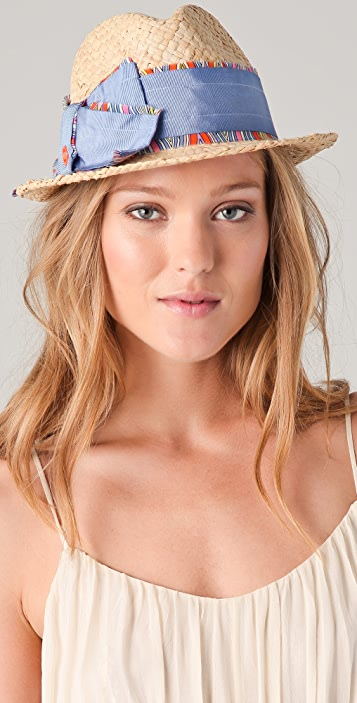 Juicy Couture Cropped Fedora with Bow