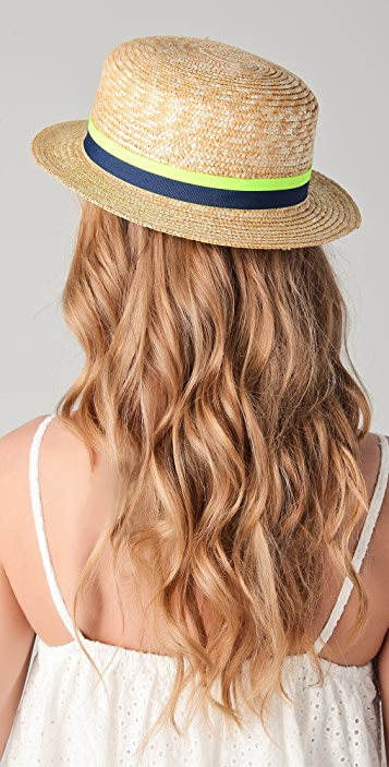 Juicy Couture Straw Boater Hat