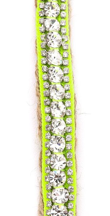 Juicy Couture Rhinestone Jute Bracelet