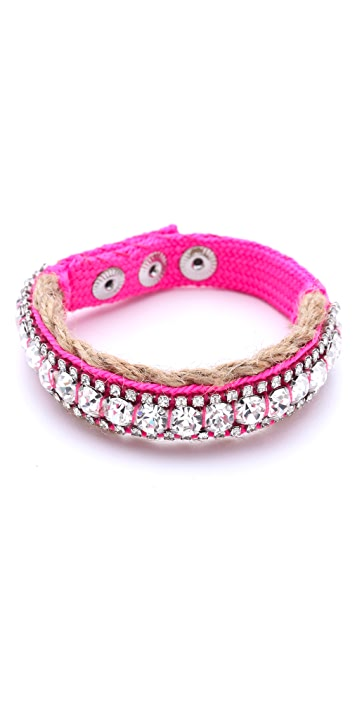 Juicy Couture Rhinestone Jute Bracelet