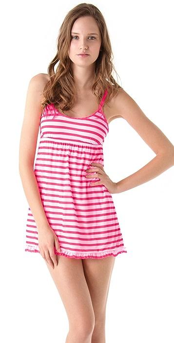 Juicy Couture Striped Mesh Ruffled Nightie