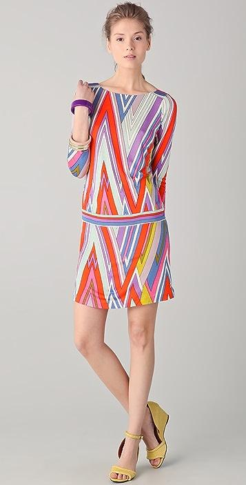 Juicy Couture 3/4 Sleeve Printed Dress