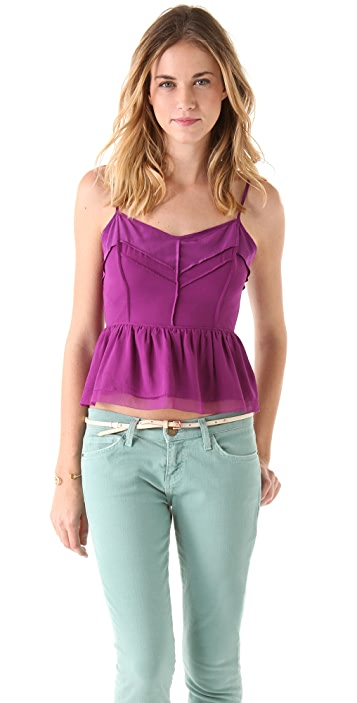 Juicy Couture Cutout Back Chiffon Top