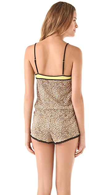 Juicy Couture Leopard Mesh Romper