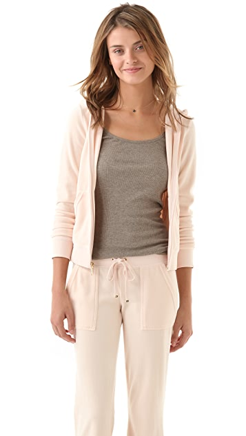 Juicy Couture Long Sleeve Original Zip Hoodie