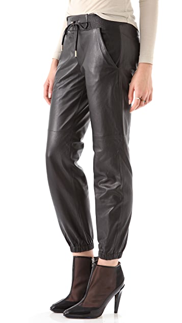 Juicy Couture Leather Track Pants