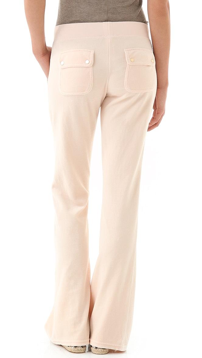 Juicy Couture Velour Snap Pocket Pants Shopbop