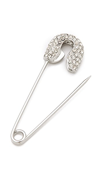 Juicy Couture Safety Pin Brooch