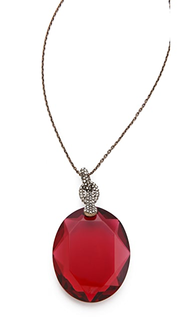 Juicy Couture Crystal Pendant Necklace