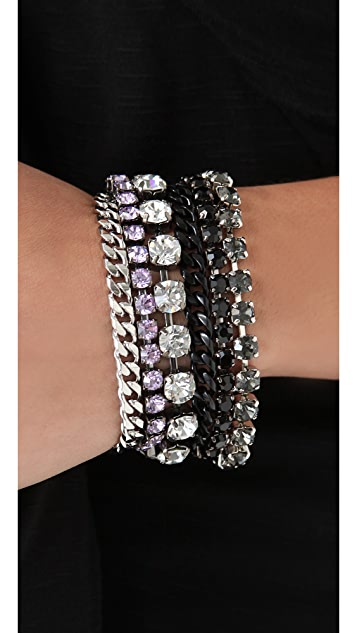 Juicy Couture Rhinestone Multi Layer Bracelet