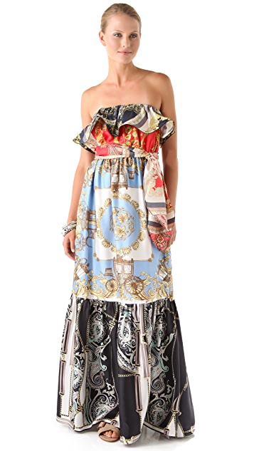 Juicy Couture Scarf Print Maxi Dress