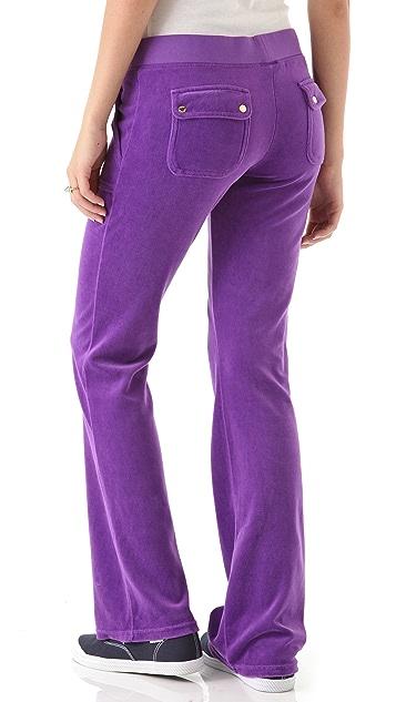 Juicy Couture Velour Snap Pocket Pants