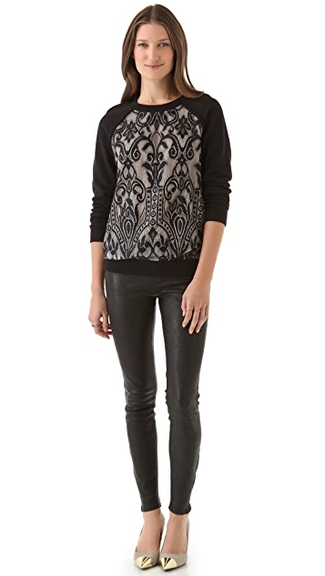 Juicy Couture Lace Pullover Sweatshirt