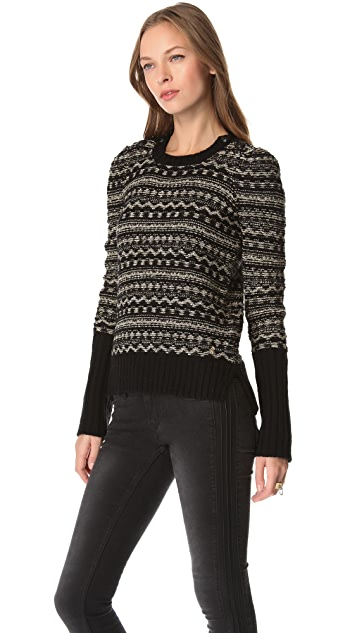 Juicy Couture Metallic Fair Isle Sweater