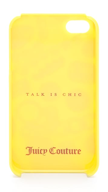 Juicy Couture Talk is Chic White Gem iPhone Case