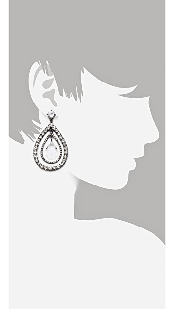 Juicy Couture Teardrop Drama Earrings