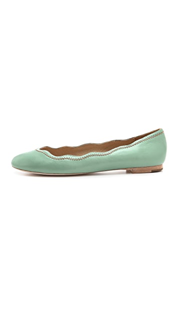 Juicy Couture Jill Scalloped Ballet Flats